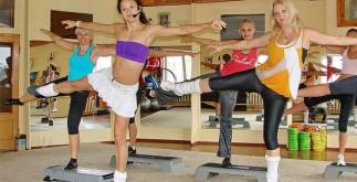 Занятия в фитнес клубе