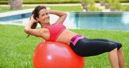 Тренировка ягодиц с мячом