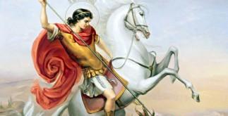 Среди других воинов он выделялся умом, красотой, мужеством, силой и воинской выправкой. Он был любимцем императора Диоклетиана.