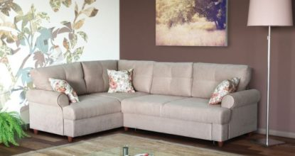 угловой кожанный диван