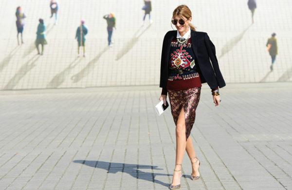 Как носить юбку с разрезом?