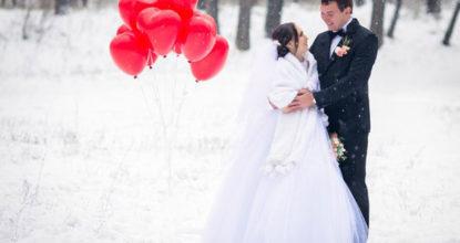 Необходимые атрибуты зимней свадьбы